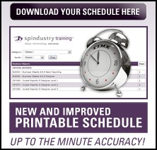 Download Your Spindustry Training Schedule Here